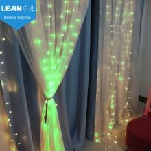 pvc New design green christmas window light decoration With high quality