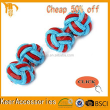 Double Ball or barrel Silk Knot Cufflink silk knitted cufflinks