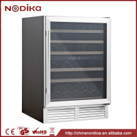 Stainless steel wine cooler 51 Bottles Dual zone under counter wine cooler machine YC-150B wine cooler refrigerator