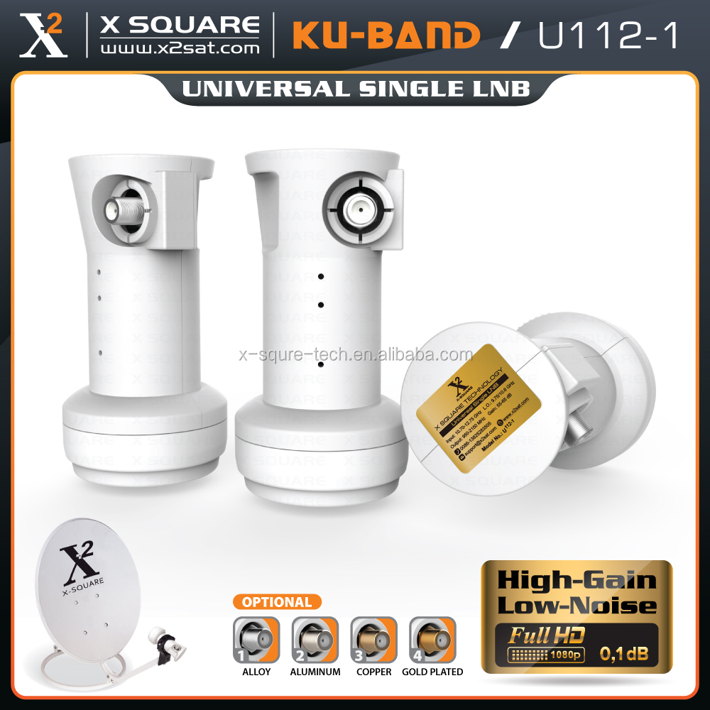 Ku band Universal Single LNB Satellite LNBF