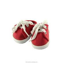 JC02-doll shoes-18inch ragazze americane bambola rosso shoeslace sneaker-bambola produttore cina