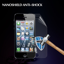 OEM Factory Price Anti-explosion 0.35mm nanoshield Screen Protector for Iphone 5 screen coverage