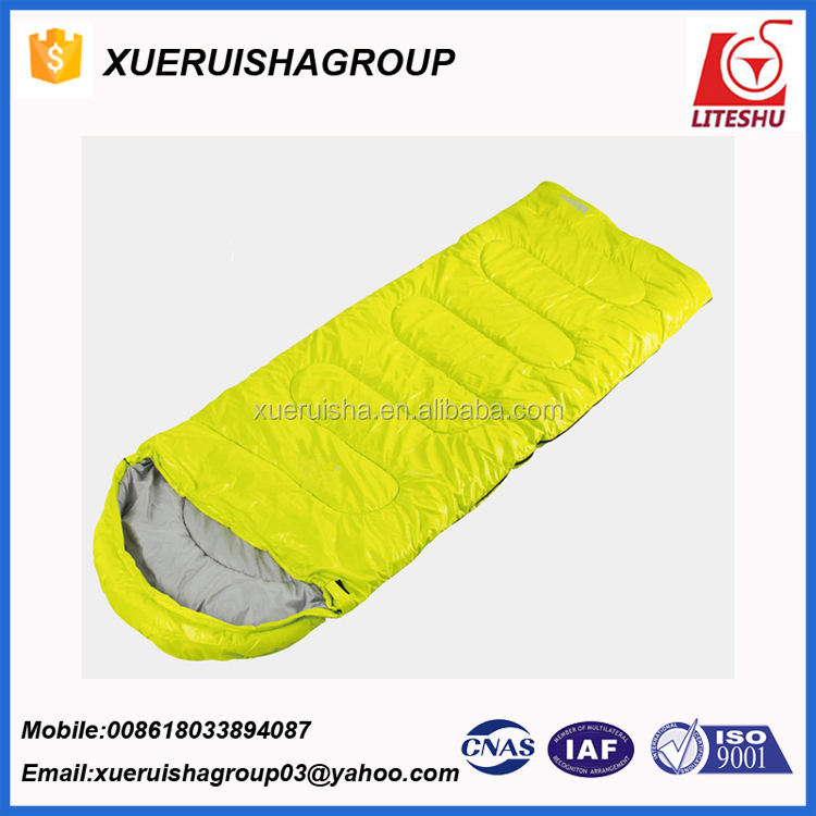 2017 Hot Sale carry-home rectangle PU coating waterproof cloth 4 season sleeping bag