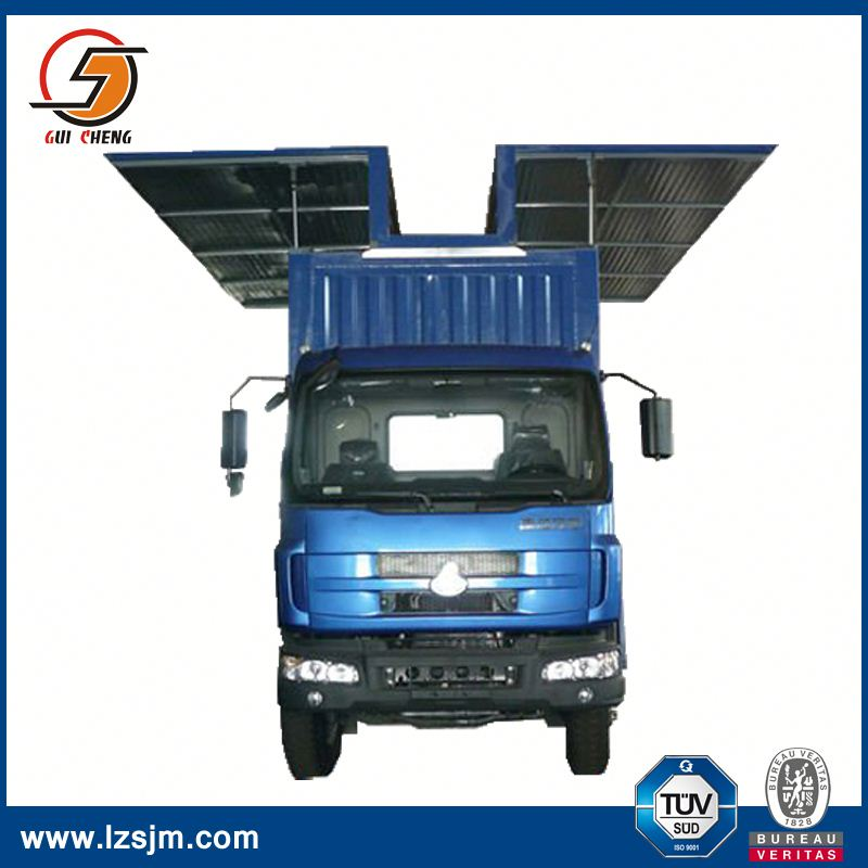 wing opening refrigerated box van