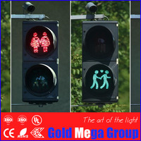 Overseas LED Pedestrian Traffic Signal Light 5 Inch Light Module with Pole