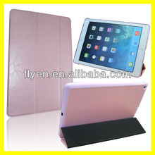 TRI-FOLD CASE FOR IPAD Air 5 Tri Fold Folio Smart Leather Case Cover for Apple iPad Air HOT Pink