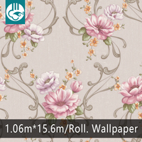 Yien Wallpaper Flower wallpaper 1.06m Korean size PVC Vinyl wallpaper 2016 new design