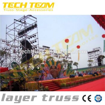 Outdoor Concert Show Equipment Customized Trussing Layer Truss System