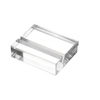 3 inch Acrylic square business card holder rack with slotted base
