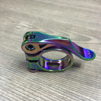31.8mm oil slick alloy MTB bicycle quick release seat post clamp