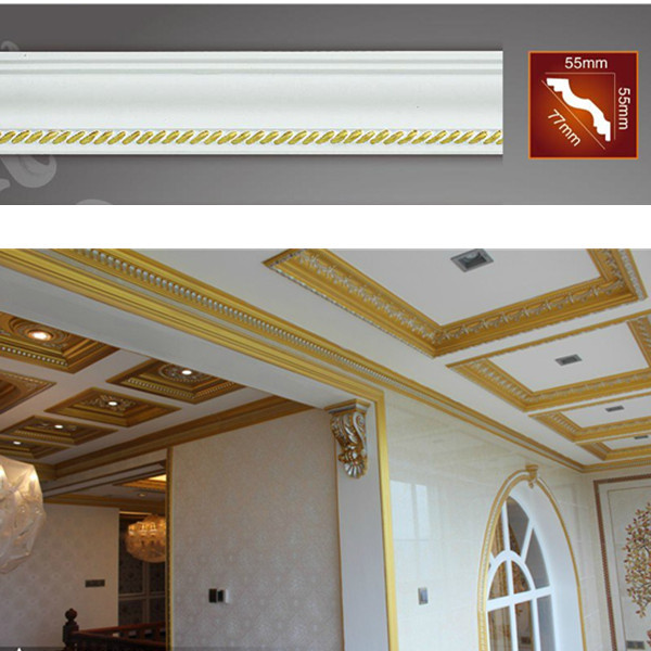 Pu decorative ceiling lines ceiling moldings for home - Molduras para techos interiores ...