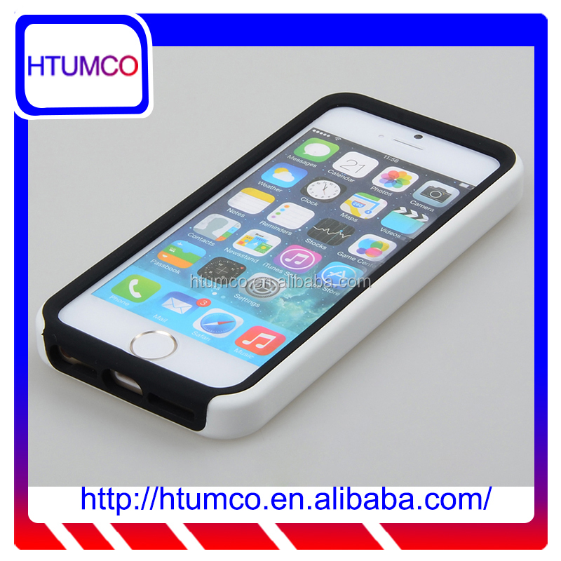 Double Layer Case silicone case for Apple iPhone 5