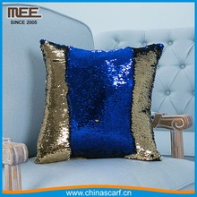 Magic sequins Mermaid Pillow Cover factory /Reversible Sequin Fabric Color Changing 2 color exchange pillow cover