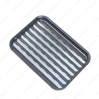 Enamel barbecue cooking grill pan