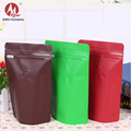 Recycle coffee bags matte aluminum foil resealable ziplock standup pouches whey protein packaging bags