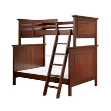 F40008A-1 Hot sale solid wood heavy duty american kid bunk bed for sale