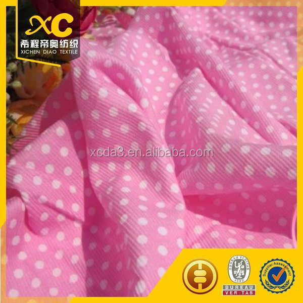 Good quality patterned corduroy textile fabric