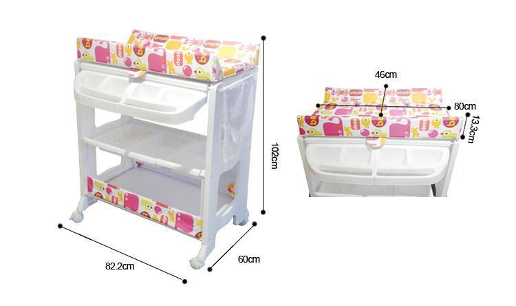 Attirant Free Standing Baby Changing Table Free Standing Baby