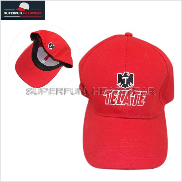 red embroidery baseball cap with eagle