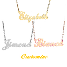 Rose Chain Custom Ring Nameplate Necklace Gold Personalised Jewelry Name Bracelet Mother's Day Stainless Steel Pendant Necklace