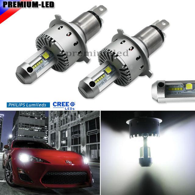 High Power CRE'E-XHP50 LED Headlight Bulbs - H4 9003 HB2 - 6000K Xenon White (No Ballast, Single-Piece, Plug-N-Play Design)