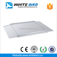 Low profile Industrial floor scale for large object weighing