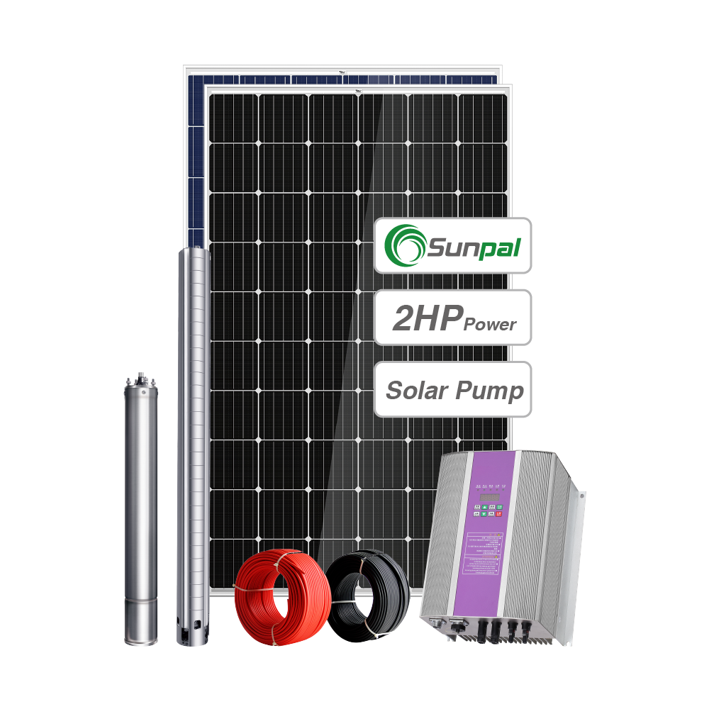 Sunpal 2 Hp Submersible Water <strong>Pump</strong> 2.2 Kw Irrigation <strong>Pump</strong> 2.5Hp Solar Water Pumping
