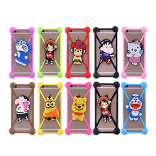 Silicone case holder strap functional silicone cell phone case