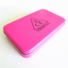 wholesale empty Customized Simple Rectangle Metal tin box for candy/mint/pill/tablet packaging