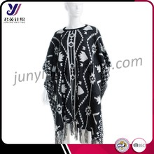 100% acrylic crochet knitted pashmina shawl China manufacturers