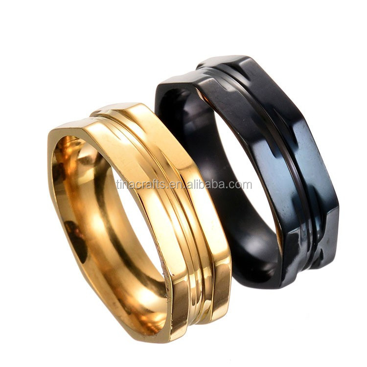 Lovers titanium steel couple rings