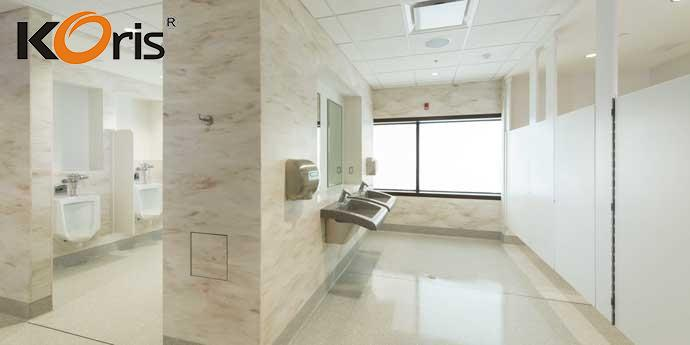 MMA material reliable shower walls cladding man made reliable marble stone slabs