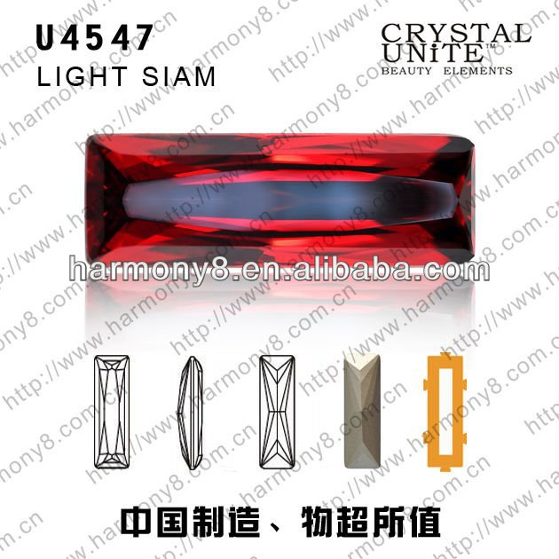 U4547 CRYSTAL UNTIE Machine cut glass fancy stone