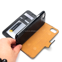 Detachable Magnetic Flip Leather Case PU Leather Wallet Phone Case for iPhone 7