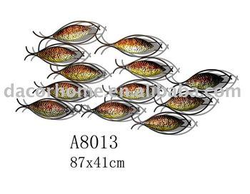 Schools of fish metal wall decor buy wall decor home for School of fish metal wall art