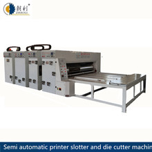 Good quality flexo ink printing slotting and rotary di cutting machine /corrugated carton box making machine