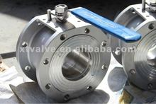 Stainless Steel Wafer Ball Valve with Flanged Type, SS316