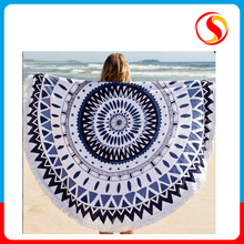 150*150 cm 100% cotton printed picnic beach towel round