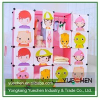 Best selling diy exquisite dust proof baby plastic wardrobe
