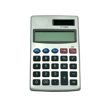12 Digit Aluminum Surface Material Students Pocket Calculator