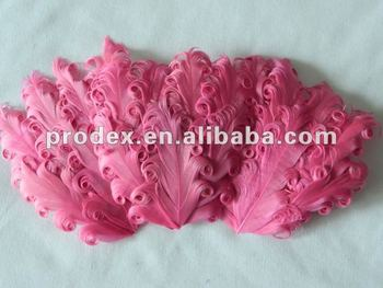 Headband Colorful nagorie curly goose feather pad