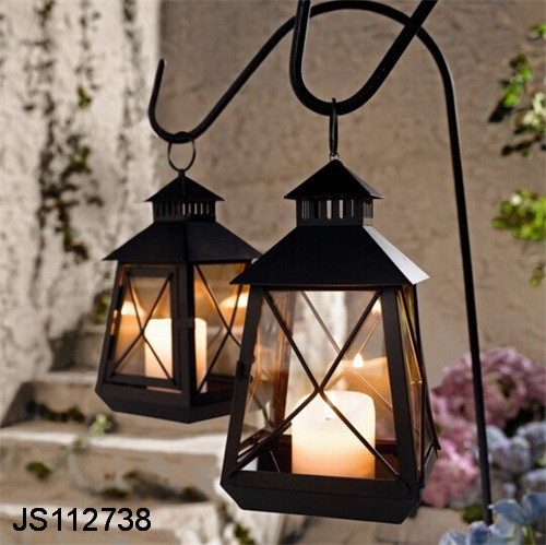 Garden Lantern Stake With Hook, With Led Candle