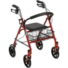 Hot Sale Medical Care Rollator Folding Walker Adult 4 Wheels