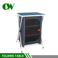 Storage multi purpose adjustable small cheap outdoor china camping suitcase picnic used aluminum folding table for sale
