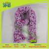OEKO TEX trade assurance high quality original thick scarf with fishnet yarn from manufacturer