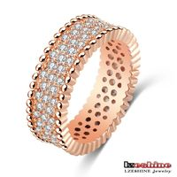 The Latest 18K Gold Plated Ring Molds Copper Jewelry for Men Luxury Quality Full Zircon CRI0187-A