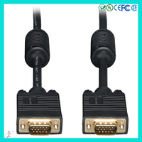 Premium 6 ft Black Double Shielded Black VGA to VGA Cable Male to Male