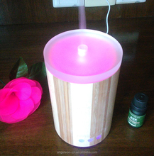 160ml bamboo glass diffuser aromatherapy diffuser manual control air humidifier ultrasonic mist maker with LED light