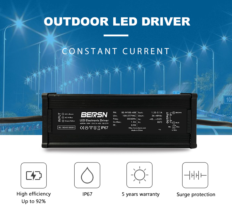 IP67 constant current 48v remote control led driver box