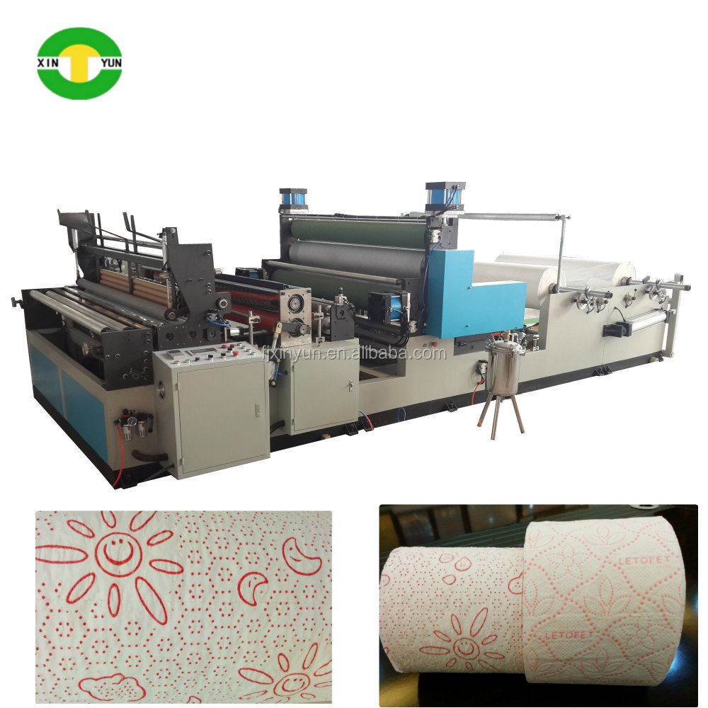Equipment for the production of kitchen roll paper colors glue lamination kitchen towel paper machine